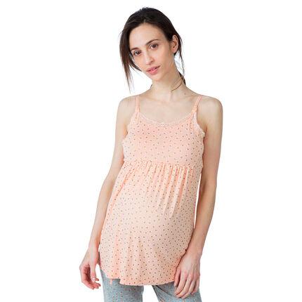 Débardeur de grossesse et d'allaitement homewear imprimé all-over xs rose clair