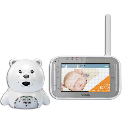 Babyphone Vidéo XL Ourson BM4200 blanc/gris