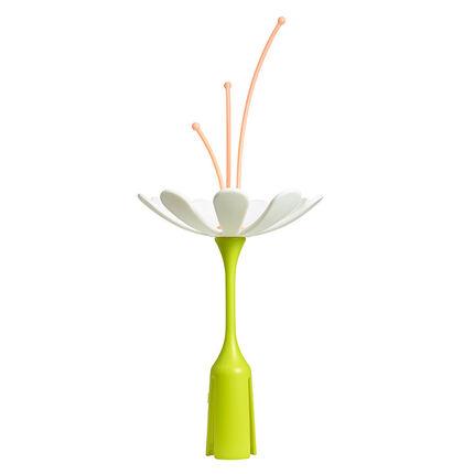 Egouttoir Fleur Stem - Vert/Blanc