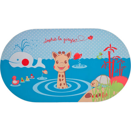 Tapis de bain - Sophie la Girafe bleu