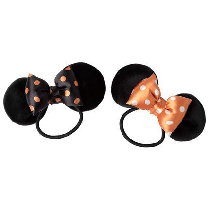 Lot de 2 élastiques à oreilles et noeud de Minnie Disney noir