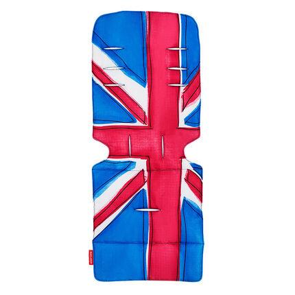 Coussin pour poussette - Union Jack Princess Blue bleu