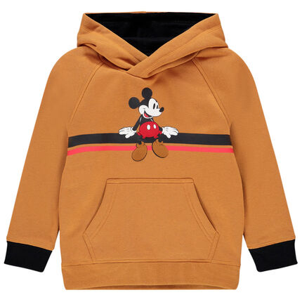 Sweat en molleton à capuche motif Mickey Disney pour enfant garçon 3 ans beige moyen
