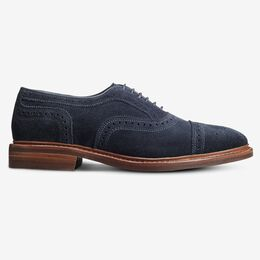 Strandmok Suede Cap-Toe Oxford with Dainite Rubber Sole, 4101 Navy, blockout