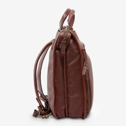 Saddle Leather Collection - Large Tech Backpack, 96003A Chili, blockout