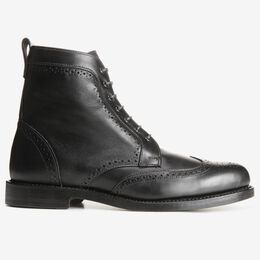 Dalton Wingtip Dress Boots, 0114 Black, blockout