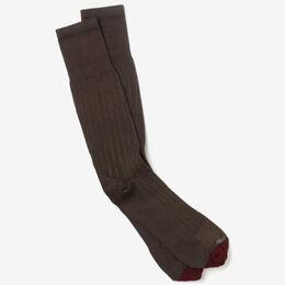 Cotton Rib Dress Socks, 1417137 Olive Cotton Rib Dress Socks, blockout