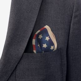 Tea Stain Flag Pocket Square, 1017486 Red, blockout
