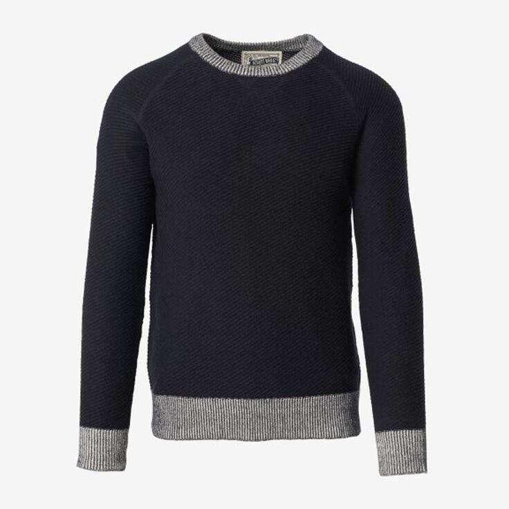 Crew Neck Sweater, 1018558 Navy, blockout