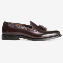 Grayson Shell Cordovan Dress Loafer, 8287 Burgundy, blockout
