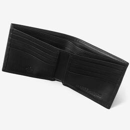 RFID Vachetta Executive Bifold Wallet, WLMBLK2R Black, blockout