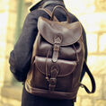 American Grain Collection - Front Pocket Backpack, 809-BP Dark Brown-sole