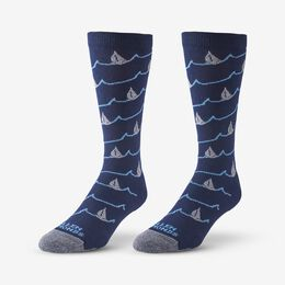 Boat Pattern Soft Touch Poly-Tencel Dress Socks, 1017615 Navy, blockout