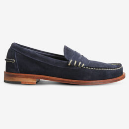 Sea Island Suede Loafer, 69133 Navy, blockout