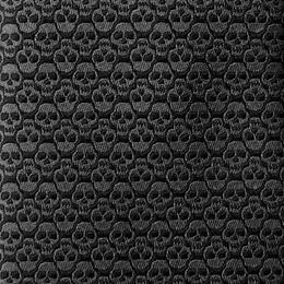 Handmade Silk Tie, 1016804 Dark Grey Skulls, blockout