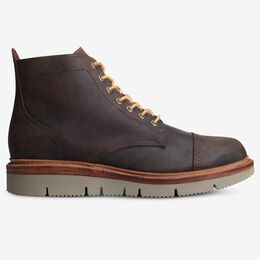 Park City Lace-Up Weatherproof Boot, 3783 Snuff Waxed Suede, blockout