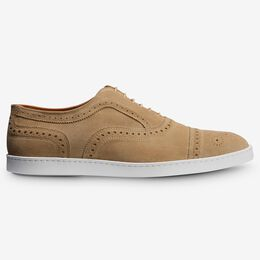 Strand Suede Oxford Sneaker, 4323 Bone, blockout