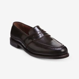 Randolph Shell Cordovan Penny Loafer, 3096 Brown, blockout