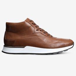 A-Trainer High Top Sneaker, 4246 Walnut, blockout