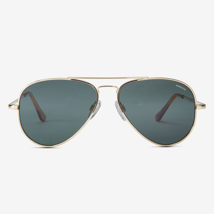 Concorde 57MM Bright 23K Gold AGX Glass Sunglasses by Randolph Engineering, 1015124 Gold, blockout