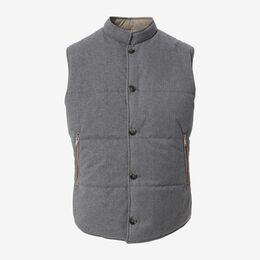 Reversible Vest, 1018449 Grey / Khaki, blockout