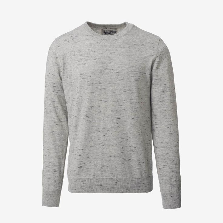 Crew Neck Sweater, 1017764 Grey Heathered Knit, blockout