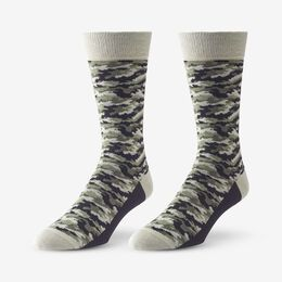 Mid-Calf Pattern Knit Dress Sock, 1016421 Olive Camo, blockout
