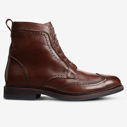 Dalton Weatherproof Wingtip Dress Boots with Dainite Rubber Sole, 4326 Chili, blockout