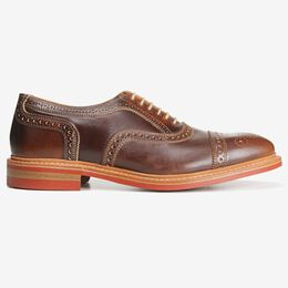 Strandmok Cap-Toe Oxford with Dainite Rubber Sole, 4027 Brown, blockout