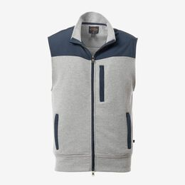 James Zip Front Vest, 1017666 Charcoal, blockout