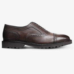 Strandmok Cap-Toe Oxford with Lug Sole, 4669 Brown Texture, blockout