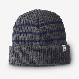 Knit Stripe Beanie by American Trench, 1016530 Grey/Navy, blockout