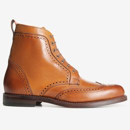 Dalton Wingtip Dress Boots, 1111 Walnut, blockout