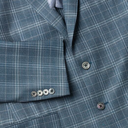 The James Plaid Sport Coat, AE2070 Teal, blockout