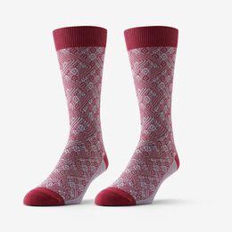 Baxter Sock by Ace & Everett, 1014566 Merlot/Lake Blue, blockout