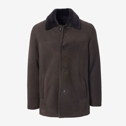 Shearling Car Coat, 1018373 Chestnut, blockout