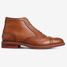 Hamilton Cap-Toe Oxford Dress Boot, 3466 Cognac Tumbled with Red Sole, blockout