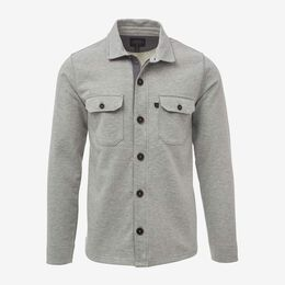 Terry Zip Front Workshirt, 1017672 Grey, blockout