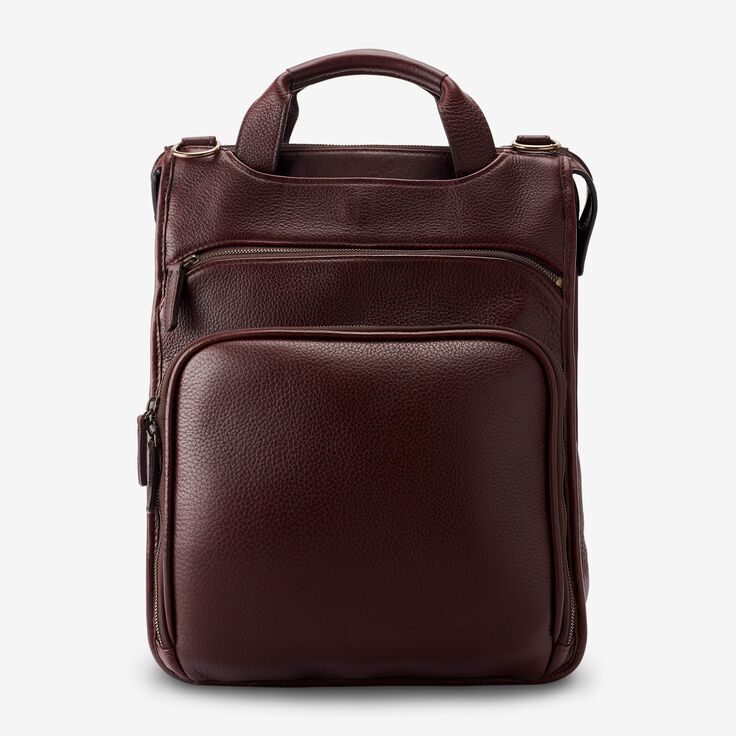 Saddle Leather Collection - Tech Backpack, 97003A Chili Leather, blockout