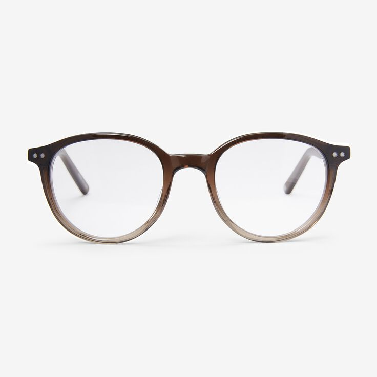 Round Frame Reader by Alan J Collection, 1014873 Brown/Crystal Fade, blockout