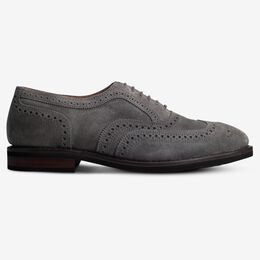 Neumok Suede Wingtip Oxford, 4109 Grey, blockout