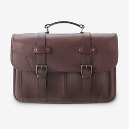 Legacy Flap Briefcase, 1016614 Mahogany, blockout