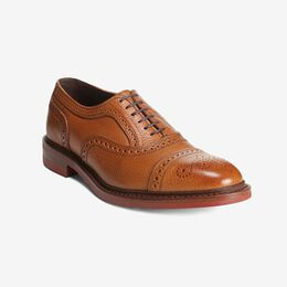 Strandmok Cap-Toe Oxford with Dainite Rubber Sole, 5552 Cognac with Red Sole, blockout