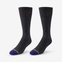 Mid-Calf Cotton Air™ Dress Socks, 1016004 Charcoal, blockout