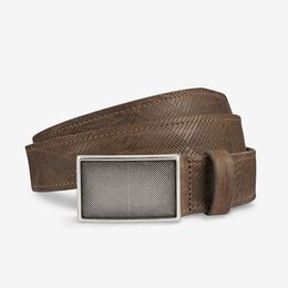 Laser Plaid Belt, 17815 Taupe, blockout