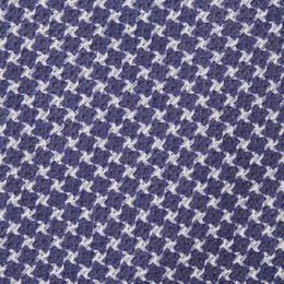 Houndstooth Print Cotton Tie, 1017447 Blue, blockout