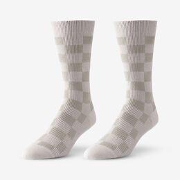 Mid-Calf Pattern Knit Dress Sock, 1016431 Khaki Checker Board, blockout