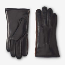 Mixed Leather Cashmere Lined Tech Gloves, 1016363 Black, blockout