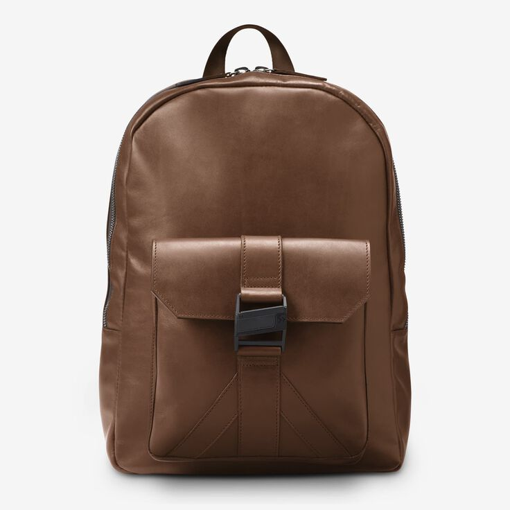 Fulton Leather Backpack, 1016617 Brown, blockout