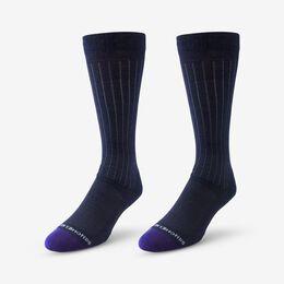 Mid-Calf Cotton Air™ Dress Socks, 1016005 Navy, blockout